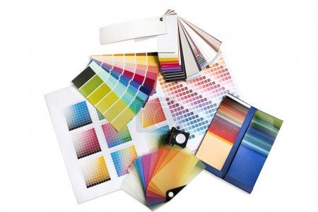 Graphic or interior designer colour swatches