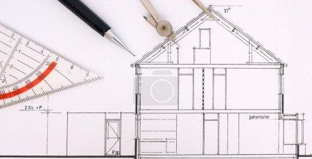 Bauzeichnung eines Hauses