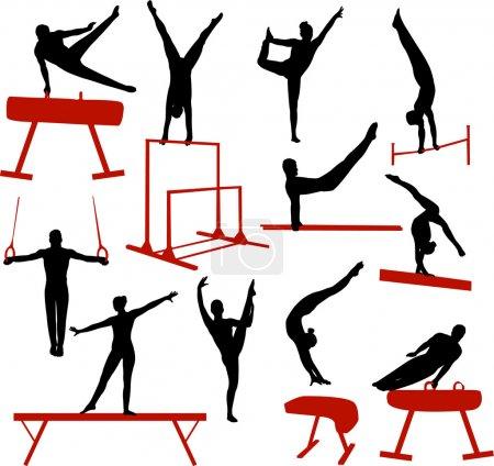 Gymnastics silhouettes