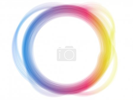 Illustration for Vector - Rainbow Circle Border Brush Effect. - Royalty Free Image