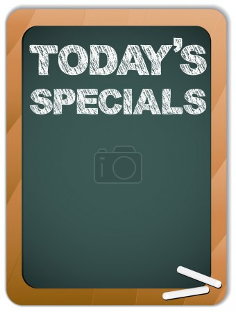 Blackboard with Today's Specials Message written with Chalk
