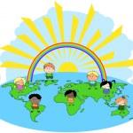 Multi culture children of the world...