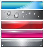 Banners headers colorful abstract set vector