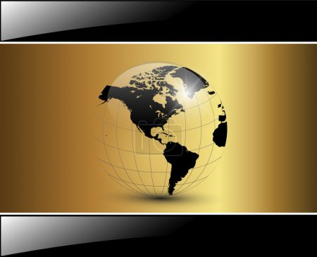 Illustration for Business background elegant glossy gold, vector. - Royalty Free Image