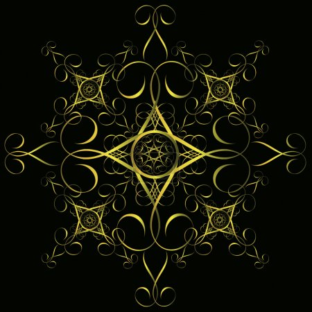 Illustration for Seamless gold ornament, vintage style design background, vector. - Royalty Free Image