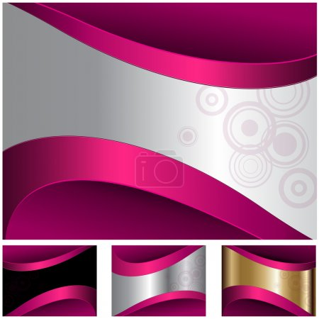 Illustration for Abstract business background metallic, vector. - Royalty Free Image