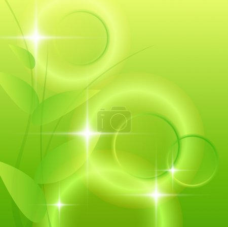 Illustration for Abstract green background, vector illustration. - Royalty Free Image