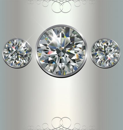 Photo for Luxury background with diamonds, vector. - Royalty Free Image