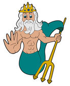Triton - Greek god cartoon