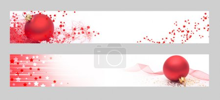 Photo for Christmas horizontal banners. Christmas banners for the web. - Royalty Free Image