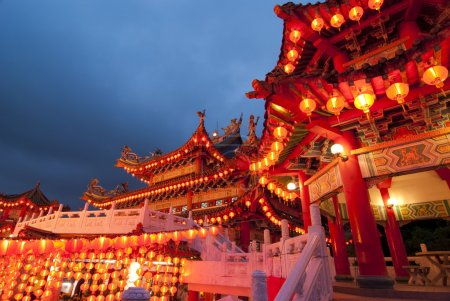 Photo for Famous thean hou temple in malaysia during chinese new year celebration - Royalty Free Image