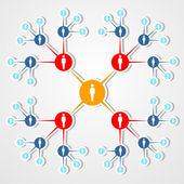 Social web network marketing diagram.