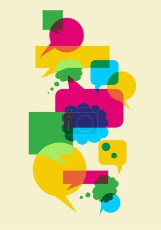 Photo pour Bulles multicolores interactives dans différentes tailles et formes illustration. Fichier vectoriel disponible . - image libre de droit