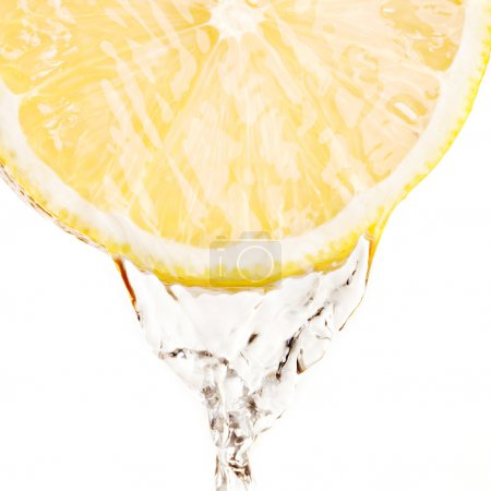 Splash of water on lemon