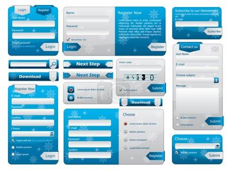 Illustration pour Formulaire Web design edition de Noël - image libre de droit