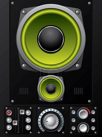 Hi-fi control deck