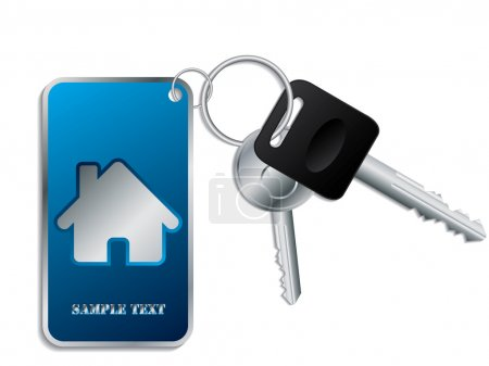 Keys with blue keyholder