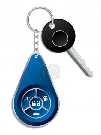 Car key with wireless remote
