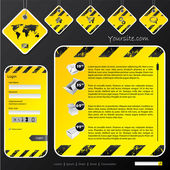 Industrial web template with label signs and labels