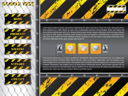 Illustration for Wire fence web template design - Royalty Free Image