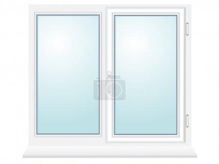 Photo pour Illustration de fenêtre en plastique fermée isolée sur fond blanc - image libre de droit