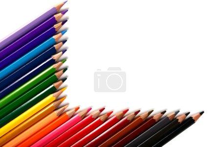 Photo pour Crayons de couleur crayons isolés sur fond blanc - image libre de droit