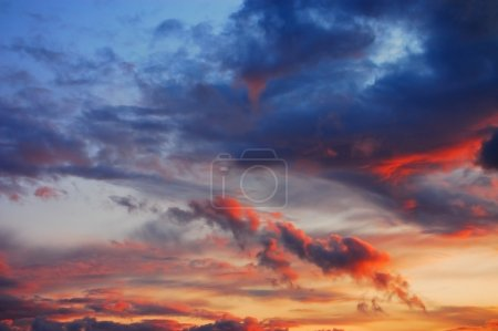 Photo for Picturesque multicolored sky background - Royalty Free Image