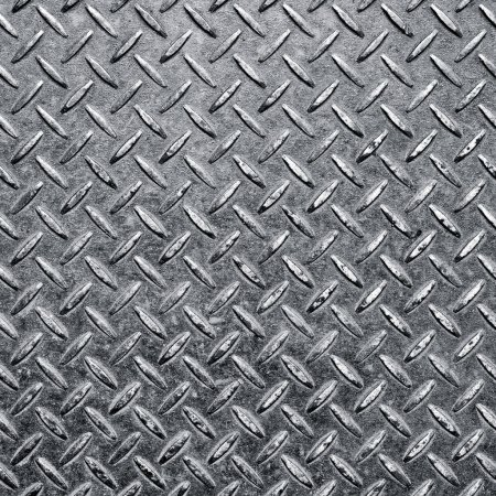 Photo for Background of metal diamond plate in silver color. - Royalty Free Image
