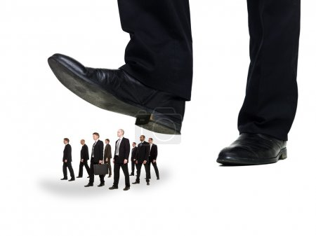 Group of Businessmen under a sole