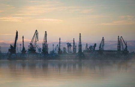 Cargo harbour in city of Varna, Bulgaria...