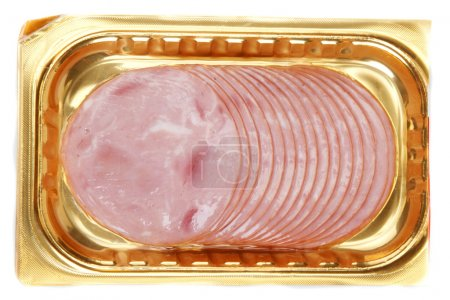 Meat in golden packing