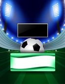 Football poster with place for your text See also football background in