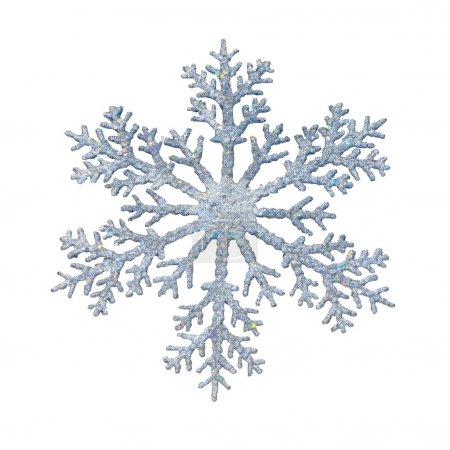 Foto de Decoración de forma de copo de nieve con trazado de recorte incluido - Imagen libre de derechos