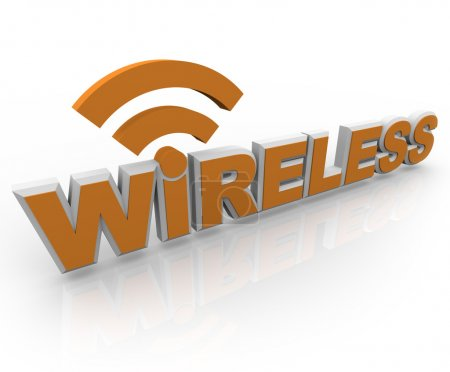 Wireless Word and Symbol - Mobile Connection