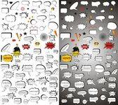 Comic vector elementsMega pack