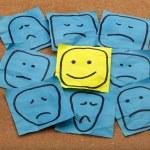 Positive attitude or optimism concept - happy smil...