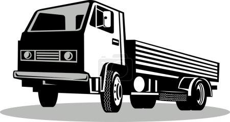 Photo pour Illustration d'un Camion vu d'un angle bas isolé sur fond blanc - image libre de droit