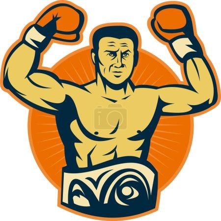Champion boxer with championship belt