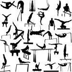 Gymnastics collection - vector...