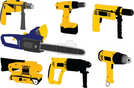 Illustration of electric tool