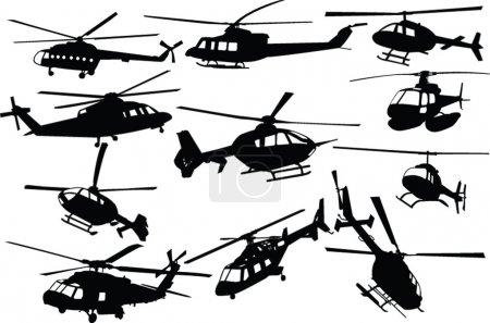 Illustration for Illustration of helicopters - Royalty Free Image