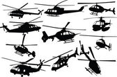 Helicopters collection - vector