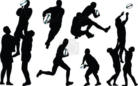 Illustration of rugby players...