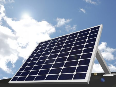 Foto de Imagen de un panel solar con un fondo de cielo. - Imagen libre de derechos