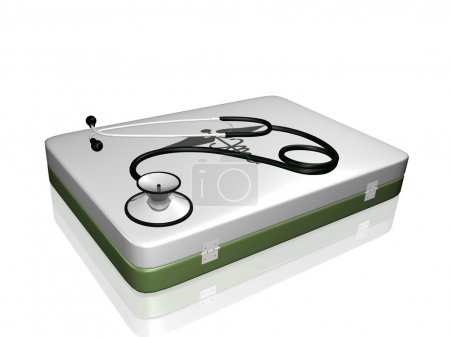 Stethoscope and Medical Kit