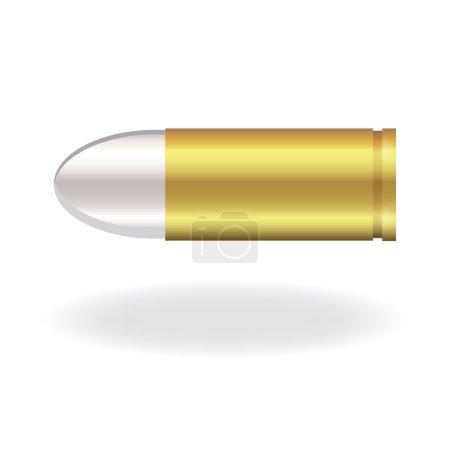 Illustration pour Image d'une balle isolée sur fond blanc . - image libre de droit