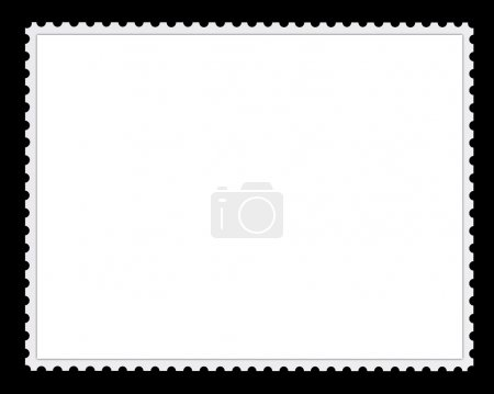 Photo for Computer generated image of a blank postage stamp for background or frame - Royalty Free Image