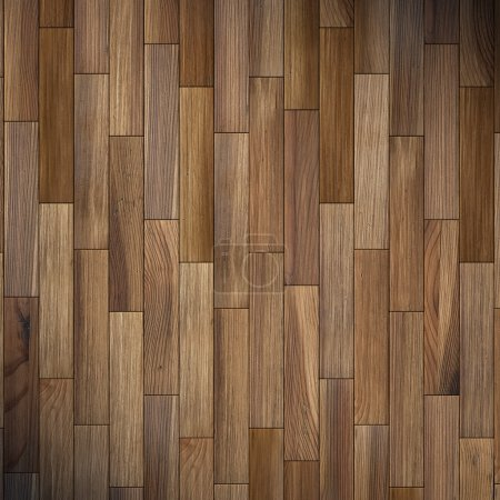 Photo for The brown wood texture of floor with natural patterns - Royalty Free Image