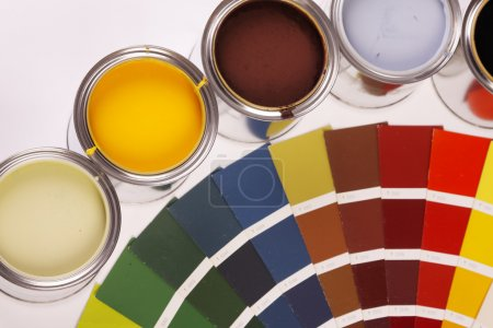 Painting, paint cans, paintbrusches and more!