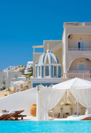 Beautiful place for rest in Santorini